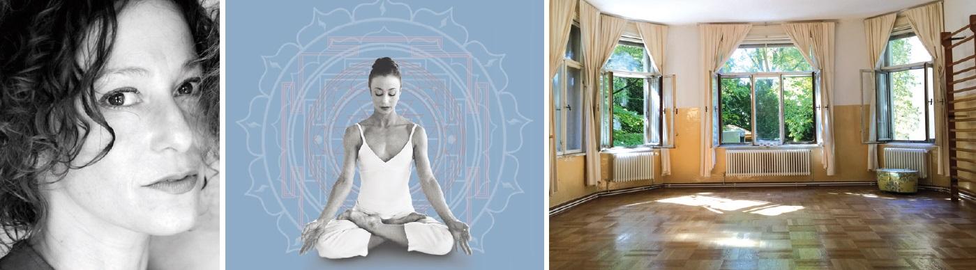 Frau von Molnar und ihr Yogastudio